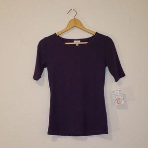 NWT LulaRoe Gigi Half Sleeve Shirt